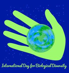 International day for biological diversity green vector