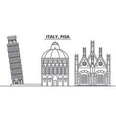 Italy pisa line skyline vector