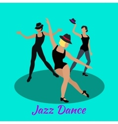 Jazz Dance Concept Flat Design vector