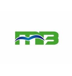 Letter M and B logo bm logo vector image