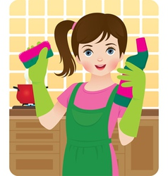 Little housewife vector