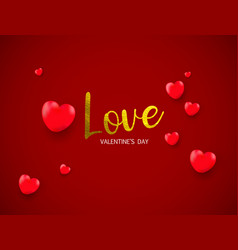 love gold texture paint stain valentines day vector image