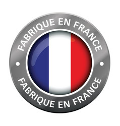 made in france flag metal icon vector image