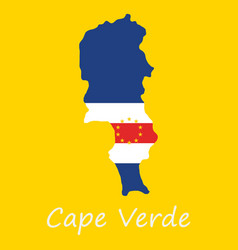 Map and national flag of cape verdemap of cape vector