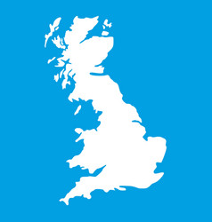 map of great britain icon white vector image