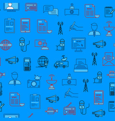 mass media and journalism seamless pattern vector image
