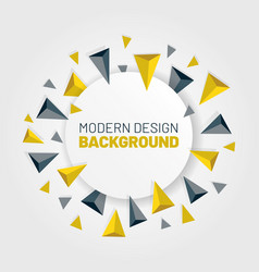 Modern abstract background with arrows vector