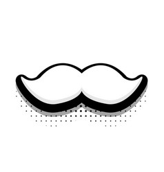 Modern halftone fathers day icon on white vector