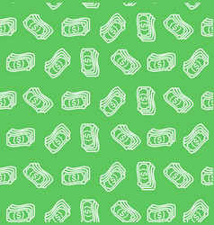 money signs seamless pattern background vector image
