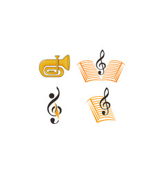 music education template set vector image