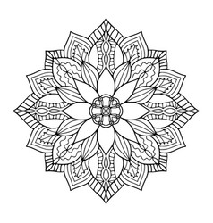 ornamental mandala art design coloring book page vector image