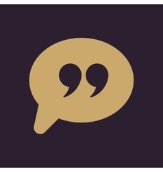 Quotation Mark Speech Bubble symbol vector