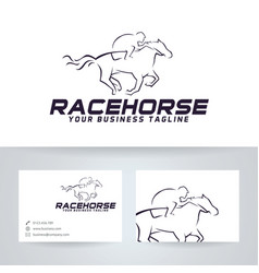 Race horse logo design vector