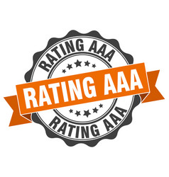 rating aaa stamp sign seal vector image