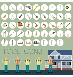 Repair tool icons vector image