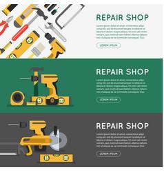 repair tool shop banner set vector image