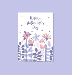romantic greeting card with the inscription happy vector image vector image