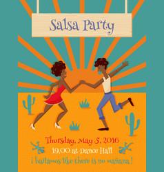 Salsa party vector