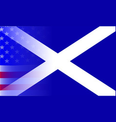 scottish flag stars and stripes vector image