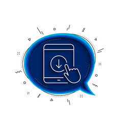 scroll down tablet pc line icon scrolling screen vector image