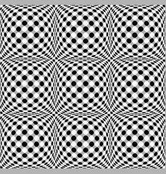 Seamless 3d dotted pattern with bulging vector