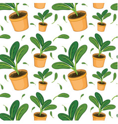 Seamless pattern tile cartoon with plant vector