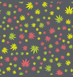 Seamless texture marijuana two vector