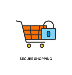 secure shopping icon vector image