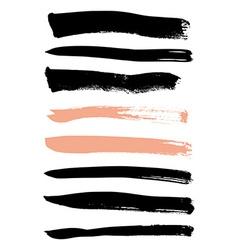 set brushes for design vector image