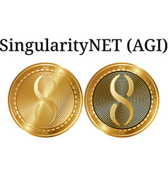 Set of physical golden coin singularitynet agi vector