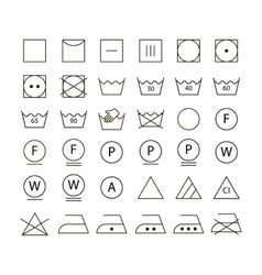 Set washing symbols vector