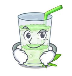 smirking lassi juice bhang in botlo character vector image