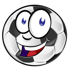 soccer ball cartoon mascot vector image