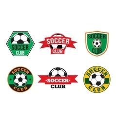 Soccer club logos set vector