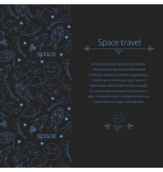 Space background for template card with place for vector image