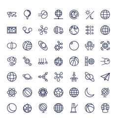 Sphere icons vector