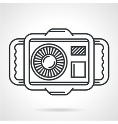 Sport camera black line icon vector