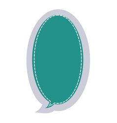 Sticker large oval frame callout dialogue vector