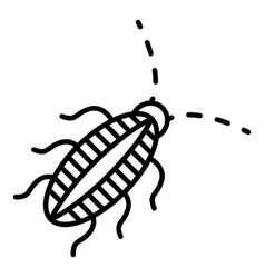 Striped cockroach icon outline style vector