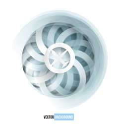 swirl blue and white card vector image
