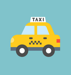 taxi transportation icon flat design vector image