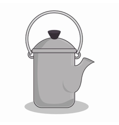 teapot kitchen metal isolated icon vector image