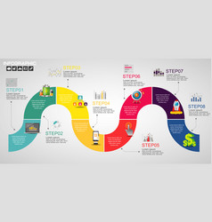 Timeline infographics design template with vector