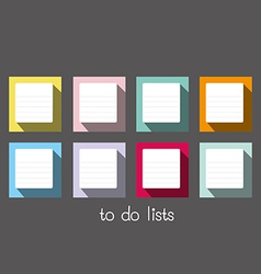 to do lists long shadow blank vector image