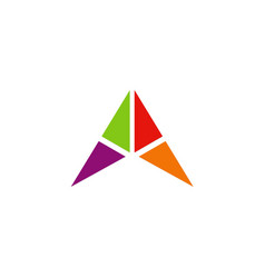 triangle shape geometry company logo vector image