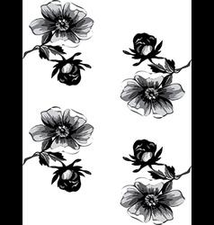 Wallpaper seamless floral vintage background vector