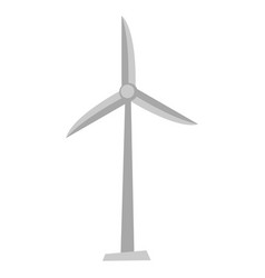 Wind turbine cartoon vector