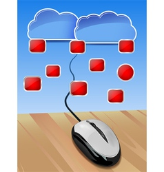 cloud connection vector image vector image