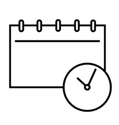 meeting diary icon vector image