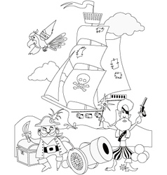 Pirates coloring page vector image